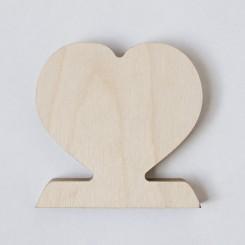 Wooden Photo Heart