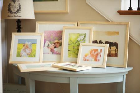 burlap photo prints