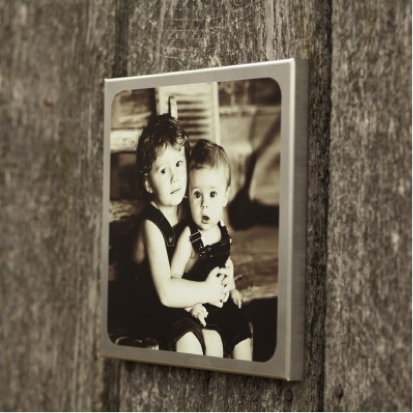 Metal canvas photo gift
