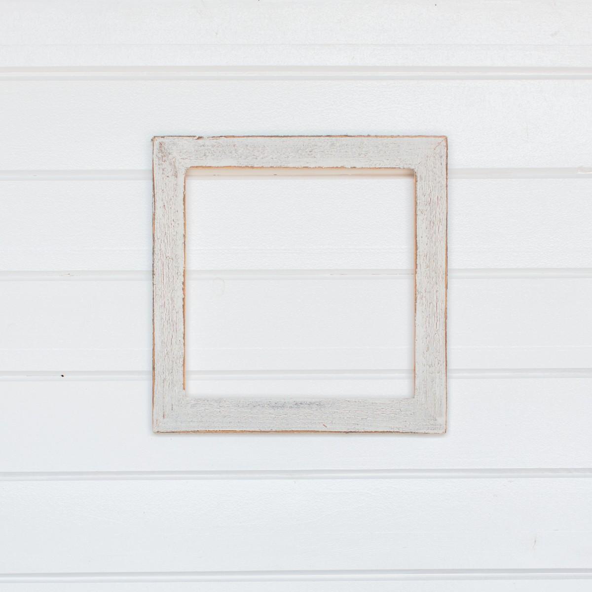 16x16 2 Painted Barnwood Frame White Wash Frames